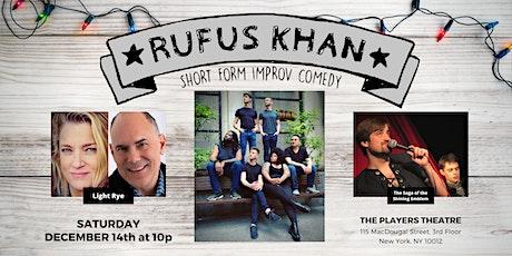 Rufus Khan's December Comedy Show tickets