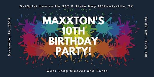 Maxxton's 10th Birthday Party