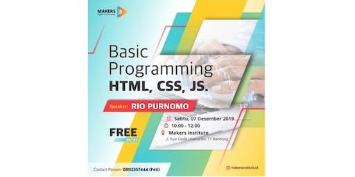 Basic Programming (HTML, CSS, JavaScript)