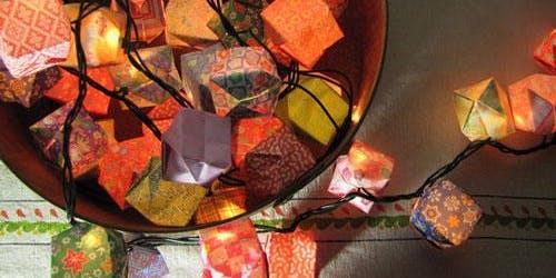 Tea & Crafting Sundays :: Origami String Light Workshop