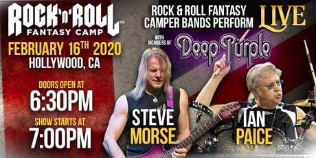 ROCK 'N' ROLL FANTASY CAMP PRESENTS - IAN PAICE & STEVE MORSE OF DEEP PURPLE ONE NIGHT ONLY! tickets