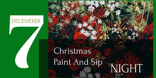 Christmas Inspired Paint And Sip Night
