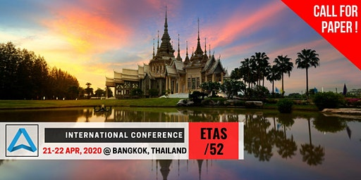 52th International Conference on Engineering, Technology and Applied Science (ETAS-52)