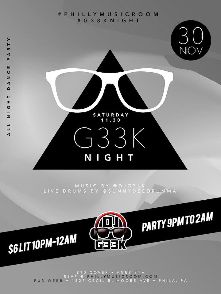 #G33kNight / DJ G33k image