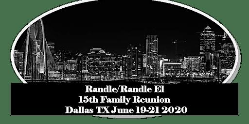 2020 Randle/Randle El Family Reunion Events
