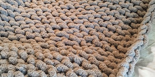 Art-Full Tuesdays: Knit a Cozy Blanket...with Your Fingers!