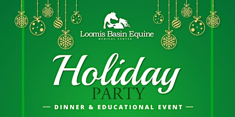 FREE December Holiday Party, Educational Event, and Dinner tickets