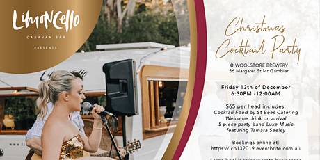 Limoncello Caravan Bar Presents  a 'Christmas Cocktail Party' tickets