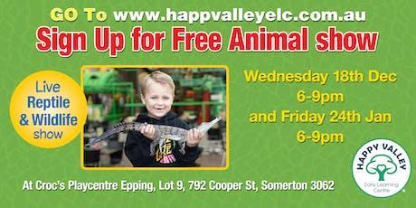 Free Animal Show tickets