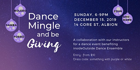 Dance Mingle and be Giving - Charity Event tickets