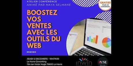 Conférence : Boostez vos ventes avec les outils du web ! billets