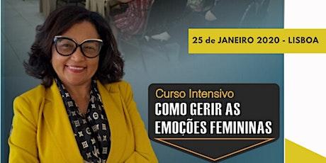 Curso Intensivo GESTÃO DAS EMOÇÕES FEMININAS bilhetes