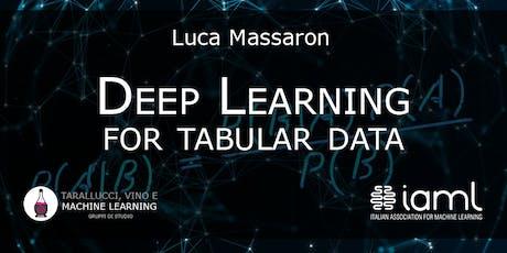 Deep Learning for Tabular Data biglietti