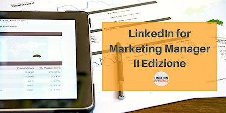 LinkedIn per Marketing Manager biglietti