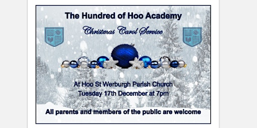 The Hundred of Hoo Christmas Carol Service - Staff Tickets