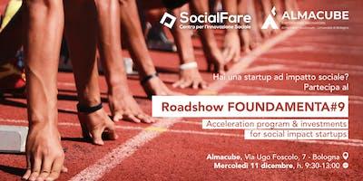 Roadshow FOUNDAMENTA#9 | Call 4 Social Impact Startup