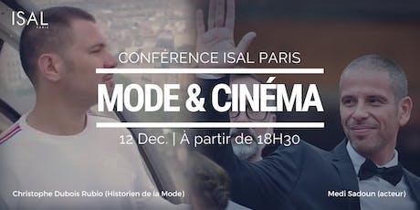 Conférence Mode & Cinéma billets