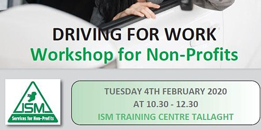 Driving for Work - WORKSHOP for Non-Profits and Charities