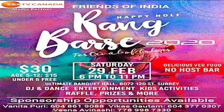 Rang Barse 2020 tickets