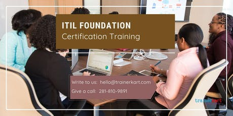 ITIL 2 days Classroom Training in Fredericton, NB tickets