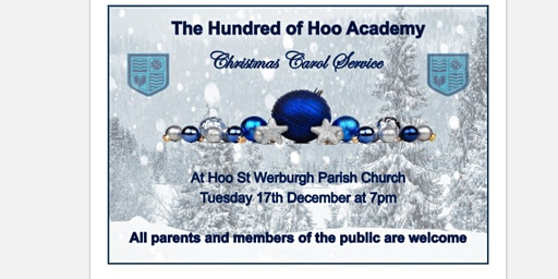 The Hundred of Hoo Christmas Carol Service - Primary Tickets