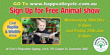 Free live reptile and wildlife Show tickets