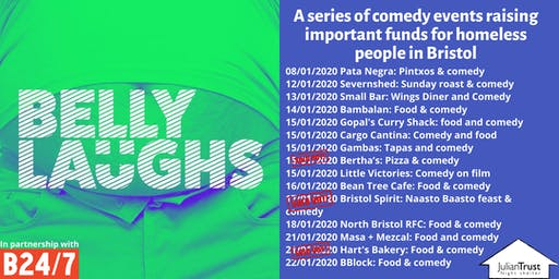 Belly Laughs with Bristol24/7 at  BBlock: Food and Comedy
