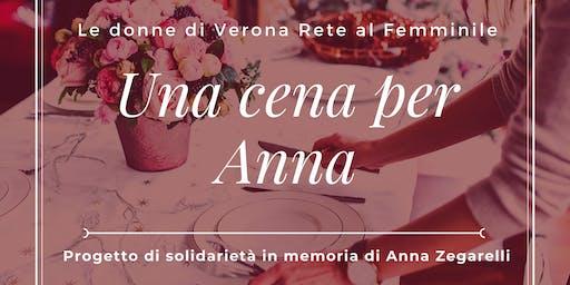 """""""Una Cena per Anna"""" Progetto di solidarietà in memoria di Anna Zegarelli"""