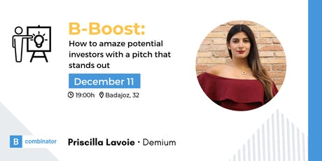 B-Boost: How to amaze potential investors with a pitch that stands out entradas