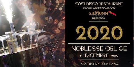 Capodanno 2020 al Cost Disco Restaurant Milano tickets