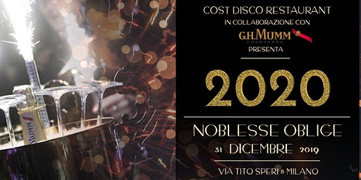 Capodanno 2020 al Cost Disco Restaurant Milano