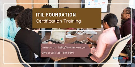 ITIL 2 days Classroom Training in Moncton, NB tickets