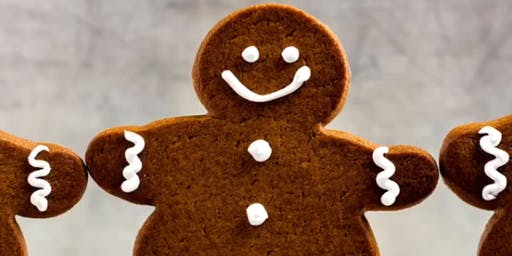 Gingerbread Man Decorating in Santa's Post Office