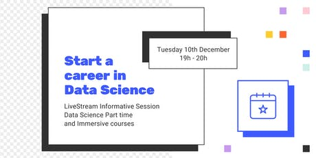 LIVESTREAM INFO SESSION: How to shift to a career in Data Science entradas
