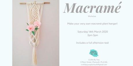 Macramé  Workshop - Make your own plant hanger tickets