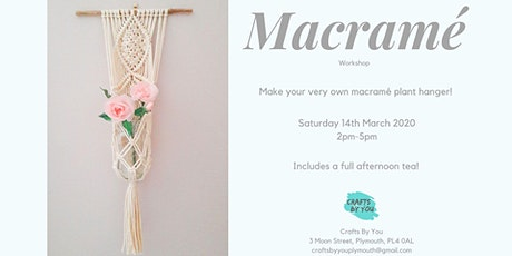 Macramé  Workshop - Make your own plant hanger tickets