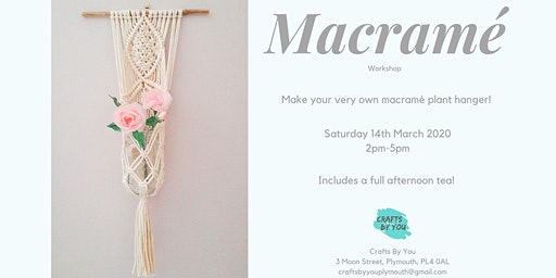 Macramé  Workshop - Make your own plant hanger