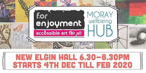 'Art For Enjoyment' sessions starting Wednesday 4th December 2019, New Elgin Hall, Elgin