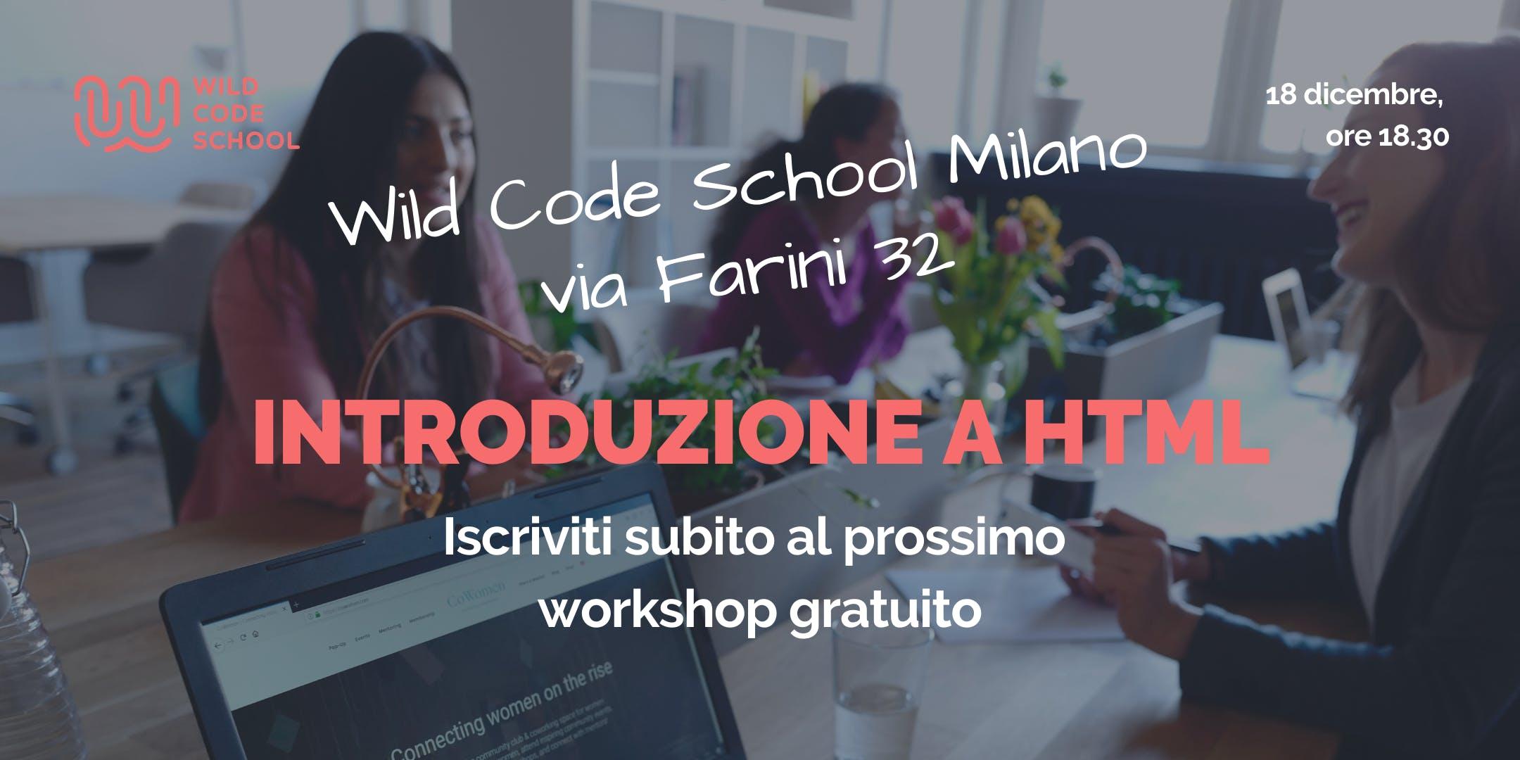 Introduzione a HTML: crea una web page!