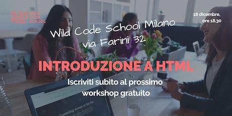 Introduzione a HTML: crea una web page! biglietti