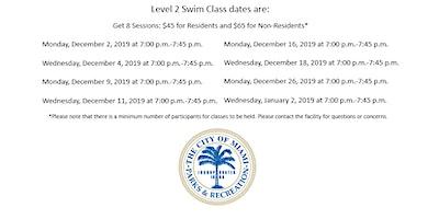 Jose Marti Pool Level 2 Monday/Wednesday (7:00PM-7:45PM) December