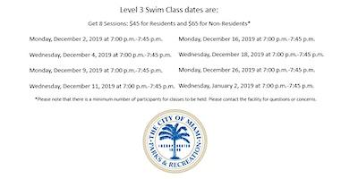Jose Marti Pool Level 3 Monday/Wednesday (7:00PM-7:45PM) December