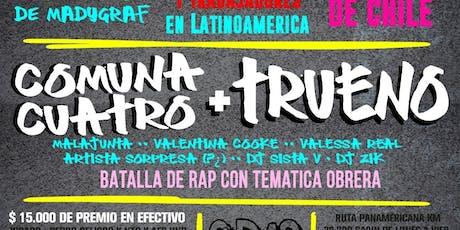Fábrica de Rimas: Comuna Cuatro + Trueno + artistes + Batalla de rap entradas