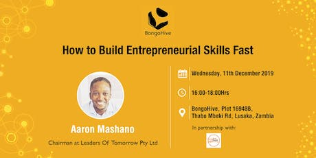 How to Build Entrepreneurial Skills Fast tickets