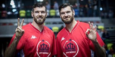 London City Royals v  Sheffield Sharks  Basket Ball Game
