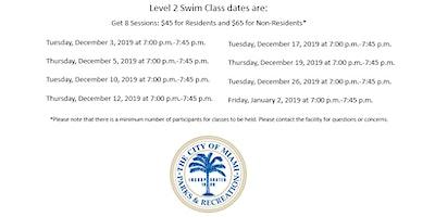 Jose Marti Pool Level 2 Tuesday/Thursday (7:00PM-7:45PM) December