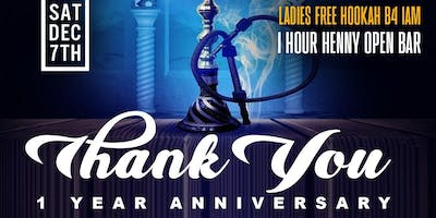 """Thank You"" 1 Year Anniversary For Blue Magic Hookah & Island Mist Hookah"