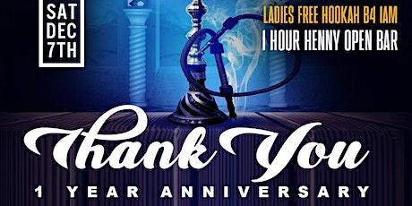 """Thank You"" 1 Year Anniversary For Blue Magic Hookah & Island Mist Hookah tickets"