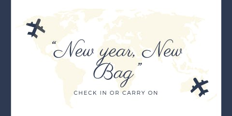 "Taking Flight ....""New Year,New Bag"""