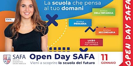 4° Open Day SAFA - La scuola che pensa al tuo domani tickets
